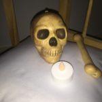 schedel in het spookhuis